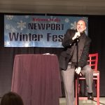 Joe welcomes comedy fans at the 2016 Winter Festival comedy show at Hyatt Newport